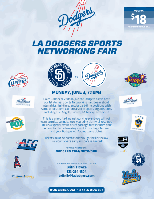 LA Dodgers Sports Networking Fair