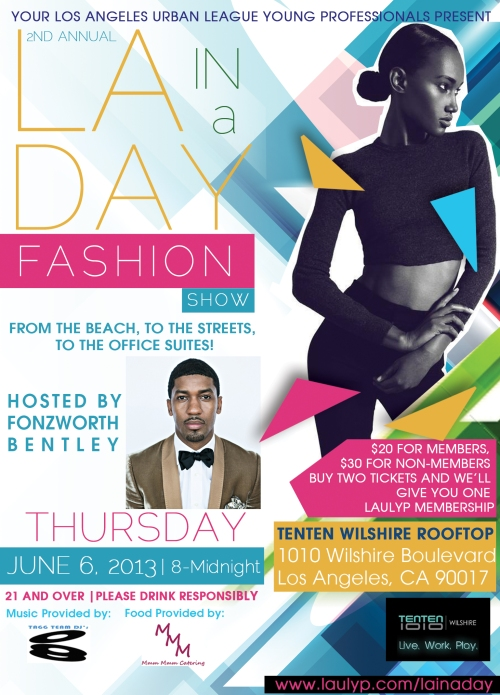 Fonzworth Bentley to Host LA Fashion Show on June 6!