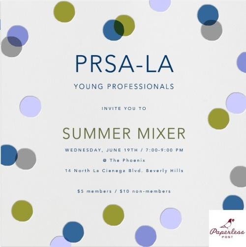 prsa la YP mixer invite