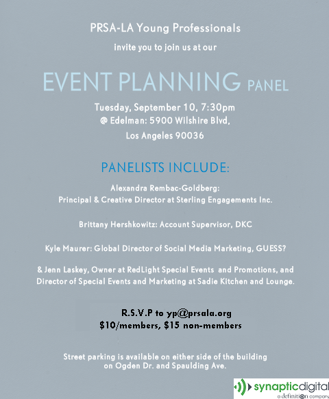 PRSA LA YP September Event Planning Panel Invite copy